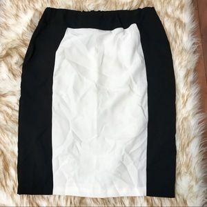 Topshop color block skirt